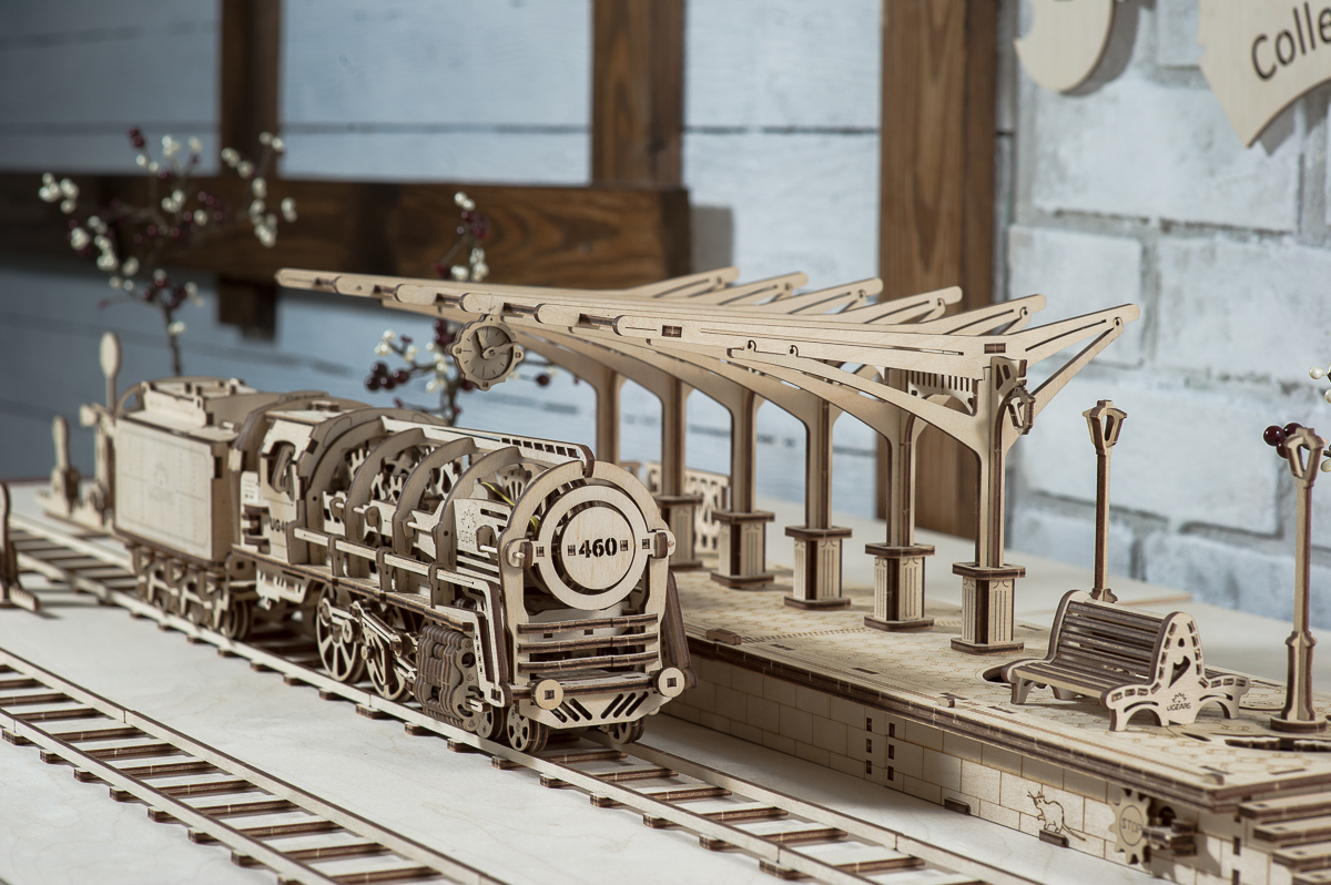 Ugears-Steam-Locomotive-Tender-Platform-11